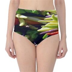 Bright Peppers High Waist Bikini Bottoms