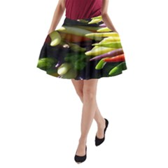 Bright Peppers A-Line Pocket Skirt