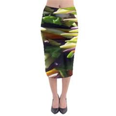 Bright Peppers Midi Pencil Skirt