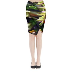 Bright Peppers Midi Wrap Pencil Skirt