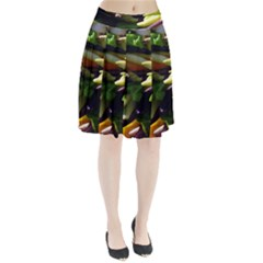 Bright Peppers Pleated Skirt