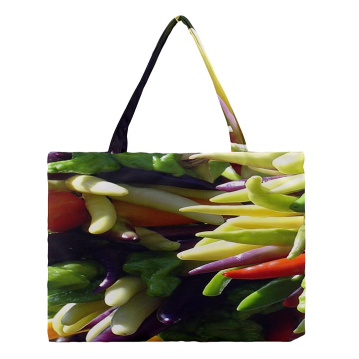 Bright Peppers Medium Tote Bag
