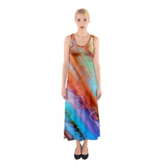 Cool Design Sleeveless Maxi Dress