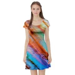 Cool Design Short Sleeve Skater Dress