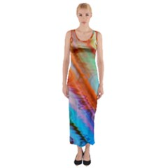 Cool Design Fitted Maxi Dress