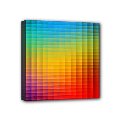 Blurred Color Pixels Mini Canvas 4  x 4