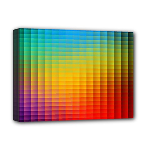 Blurred Color Pixels Deluxe Canvas 16  x 12