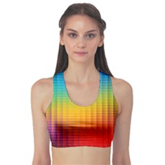 Blurred Color Pixels Sports Bra