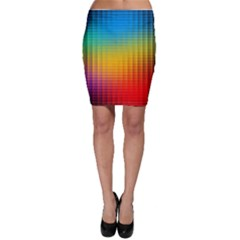 Blurred Color Pixels Bodycon Skirt