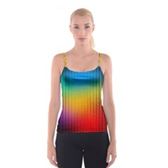 Blurred Color Pixels Spaghetti Strap Top