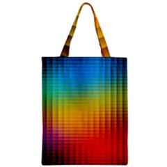 Blurred Color Pixels Zipper Classic Tote Bag