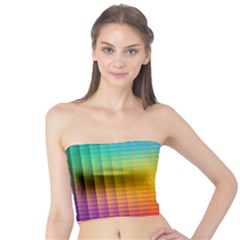 Blurred Color Pixels Tube Top