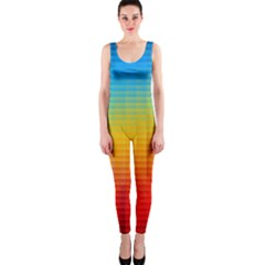 Blurred Color Pixels Onepiece Catsuit