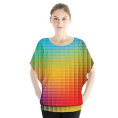 Blurred Color Pixels Blouse
