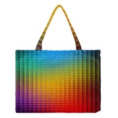 Blurred Color Pixels Medium Tote Bag