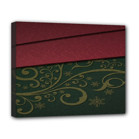 Beautiful Floral Textured Deluxe Canvas 20  x 16