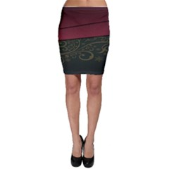 Beautiful Floral Textured Bodycon Skirt