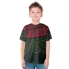 Beautiful Floral Textured Kids  Cotton Tee