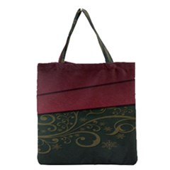 Beautiful Floral Textured Grocery Tote Bag