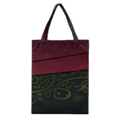 Beautiful Floral Textured Classic Tote Bag