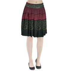 Beautiful Floral Textured Pleated Skirt