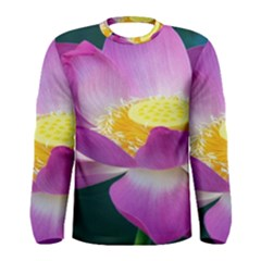 Pink Lotus Flower Men s Long Sleeve Tee
