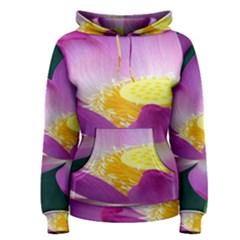 Pink Lotus Flower Women s Pullover Hoodie