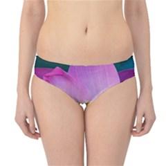 Pink Lotus Flower Hipster Bikini Bottoms