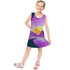 Pink Lotus Flower Kids  Tunic Dress