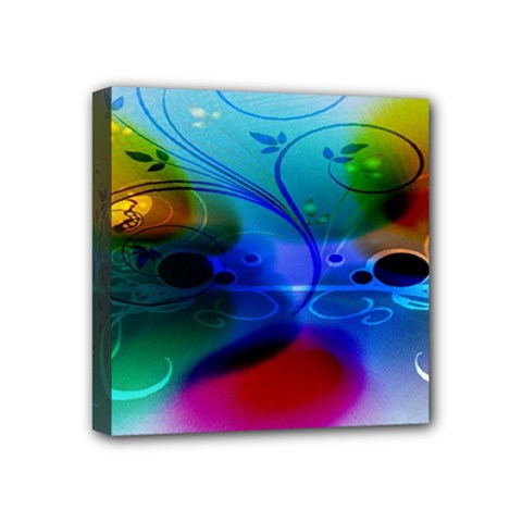 Abstract Color Plants Mini Canvas 4  x 4