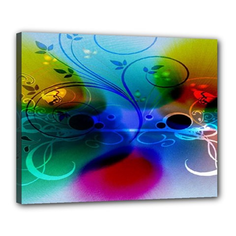 Abstract Color Plants Canvas 20  X 16