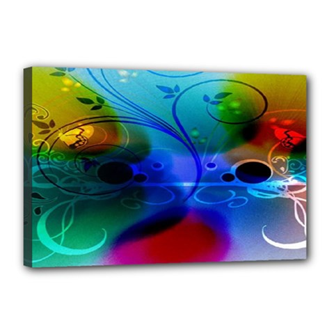 Abstract Color Plants Canvas 18  X 12