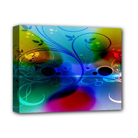 Abstract Color Plants Deluxe Canvas 14  x 11