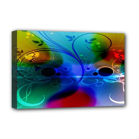 Abstract Color Plants Deluxe Canvas 18  x 12