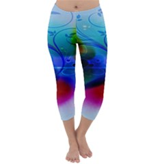 Abstract Color Plants Capri Winter Leggings