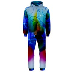 Abstract Color Plants Hooded Jumpsuit (Men)