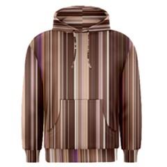 Brown Vertical Stripes Men s Pullover Hoodie