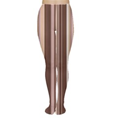 Brown Vertical Stripes Women s Tights