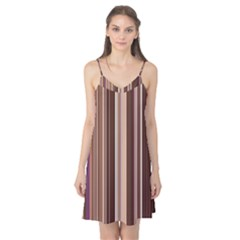 Brown Vertical Stripes Camis Nightgown