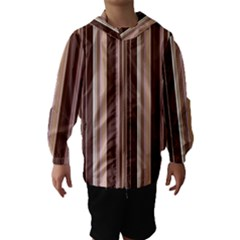 Brown Vertical Stripes Hooded Wind Breaker (Kids)