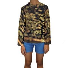 Blurry Sparks Kids  Long Sleeve Swimwear