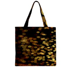 Blurry Sparks Zipper Grocery Tote Bag