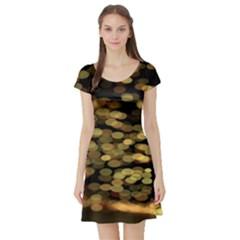 Blurry Sparks Short Sleeve Skater Dress