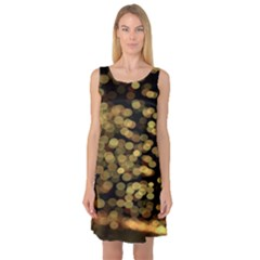 Blurry Sparks Sleeveless Satin Nightdress