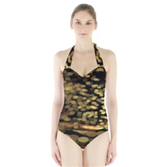 Blurry Sparks Halter Swimsuit
