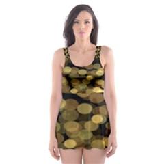 Blurry Sparks Skater Dress Swimsuit