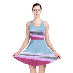 Cracked Tile Reversible Skater Dress