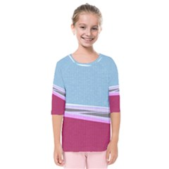 Cracked Tile Kids  Quarter Sleeve Raglan Tee