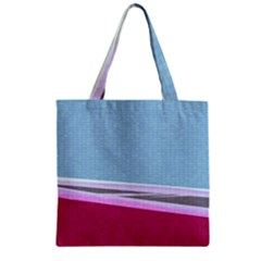 Cracked Tile Zipper Grocery Tote Bag