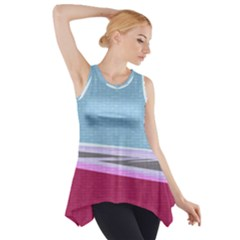 Cracked Tile Side Drop Tank Tunic